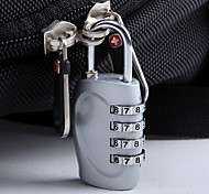 Luggage LockForLuggage Accessory Stainless Steel 3 x 5.8 x 1.5cm