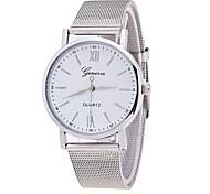 Xu™ Жен. Модные часы Кварцевый Металл Группа минималист Серебристый металл