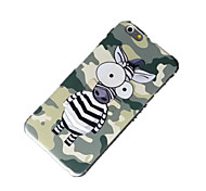 PC Shell with Relief Support Zebra for iPhone6 Plus/6s Plus