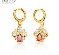 Ruby Jewelry Earrings Fashion Jewelry For Women Trendy 18K Gold/Platinum Plated Red Cubic Zirconia Drop Earrings E10123