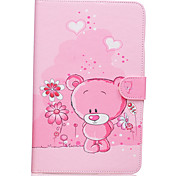 Bear Pattern PU Leather Full Body Case TPU With Stand for Samsung GALAXY Tab E SM-T560 SM-T561
