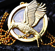 Unisex Round Dial Personality Eagle Pattern Retro Fashion Quartz Necklace Watch Pocket Watch