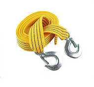 Tow Rope Strap With Hooks For Car Boat Emergency 4m Length Pull Capacity 3 Tons