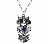 Korean Fashion Fashion Owl Pendant Crystal Necklace