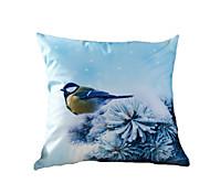 3D Design Print Animal Snow Birds Decorative Throw Pillow Case Cushion Cover for Sofa Home Decor Polyester