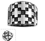 Fashion Generous No Decorative Stone Men's Multiple Skulls Stainless Steel Ring(Black)(1Pc)
