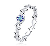 New Complicated Women's Multichamber Torsional Wave Copper Silver Plated Chain & Link Bracelet(Silver)(1Pc)