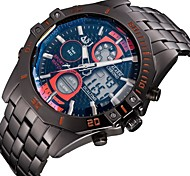 Multiple Digtal Display Date Day Alam Waterproof LCD Chronograph Mens Sport Wrist Quartz Watch Military Army Style