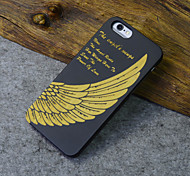 Black Wood iphone Case Angel Wing Power Of Love Carving Hard Back Cover for iPhone 5s/iphone 5