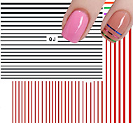 3D Stripe Line Nail Art Sticker Tools Beauty Decorations for on Nail Stickers