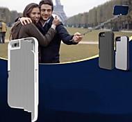 novas fantástica com o próprio dobrável titular da vara selfie caso de telefone tampa traseira portátil para iPhone 6 / 6s (cores