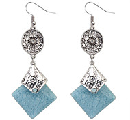 Women's New European Style Fashion Ethnic Exaggerated Retro Square Drop Earrings