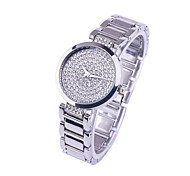 Women's Fashion Stainless Steel Band Quartz Analog Wrist Watch(Assorted Colors)