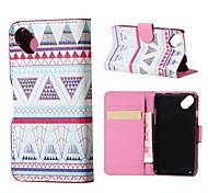 Triangles Pattern Magnetic PU Leather wallet Flip Stand Case cover for Wiko sunset2