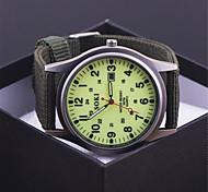 Fashion Brand Men's Sports Watches Vintage soki Quartz Military Watch Relogios Masculino FABRIC Strap Dress Watch