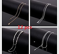 Wholesale  17 Inch (43cm)2mm Width Titanium Steel Chains Necklace,Set of 12