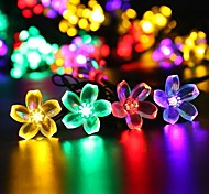 King Ro solar 21.32ft 30LED Fancy Christmas Party Decoration Light Outdoor Waterproof Garden String Lights