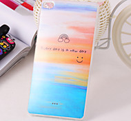 Smiling Face Pattern TPU IMD Material Back Cover for Huawei P8