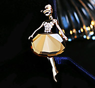 HUALUO®Ballet Dancing girl Crystal Brooch Fashion Exquisite Rhinestone Buckle Corsage pin