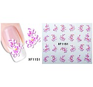 50sheets  Mixed Flower 50Styles Water Transfer Sticker Nail Art Beautiful DIY XF1151-1120