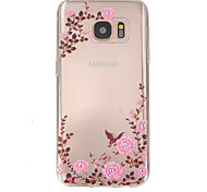 bloempatroon TPU hulp Cover Case voor Galaxy S7 / galaxy S7 edge / galaxy s7 rand plus