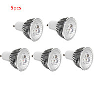 5pcs HRY® 3W GU10/GU5.3/E27/E14 350LM Warm/Cool White Color Light LED Spot Lights(85-265V)