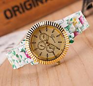 Women's Fashion Plastic Band Quartz Analog Wrist Watch(Assorted Colors)