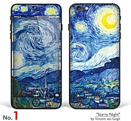 "iPhone 6/6S Body Art Skin Sticker: ""Works by Vincent van Gogh (Part 1 of 3)"" (Masterpieces Series)"