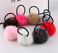 Journal of Korean children headdress hair accessories with paragraph rabbit fur ball hair rope wholesale