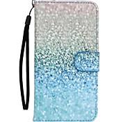 grüne Sand-Muster PU-Leder Ganzkörper-Fall mit Ständer für Sony Z5