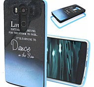 2-in-1 Dance in the Rain Pattern TPU Back Cover with PC Bumper Shockproof Soft Case for LG V10/G4 Pro