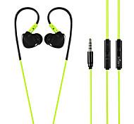 labsic l-s88 3,5 milímetros oi-fi estéreo fones de ouvido desportivos com microfone e confortável ouvido com fio para telefone portátil pc