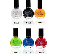 6pcs/lot Nail Printing Oil Colorful Nail Polish