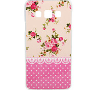 Pink Flower Pattern IMD+TPU Back Cover Case for Samsung Galaxy A3/A5/A7