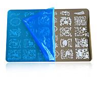5pcs 2016 DIY Beauty Image  Nail Art Stamping Plates Fashion Designs Templates DIY Tools HK01(HK01-11)Random Delivery