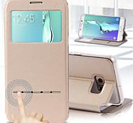 deji® voir smart réponse tactile métallique appelle pu étui en cuir pour le bord de samsung galaxy / s7 / s6 bord + / bord s6 / S6 / s5 /