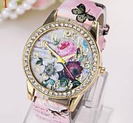 set reloj del taladro señoras que restaura maneras antiguas es un reloj de marcación flor grande