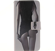 Sexy girl Pattern PU Leather Full Body Case with Card Slot for Samsung Galaxy A9/A9000