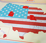 Scratch Ticket Map Of The USA/America Scratch Map