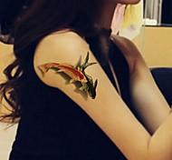 Séries de Jóias / Séries Animal / Séries Flores / Séries Totem / Outros - BR - Tatuagem Adesiva -Non Toxic / Estampado / Tamanho Grande /