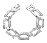 Lureme® Fashion Silver Plated Jewelry Geometric 8 Chain Bracelets for Women