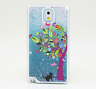 The Wishing Tree Painted Quicksand PC Phone Case For Samsung Galaxy Note3/Note4/Note5 + A Touch Screen Pen