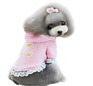 Dog Coat Pink / Purple Dog Clothes Winter Fashion