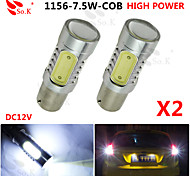 2X White High Power BAU15S 1156PY 7.5W Tail Brake Signal LED Light bulbs 7507