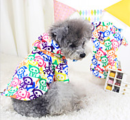 Dog Coat Red / White / Blue / Yellow Dog Clothes Winter Fashion