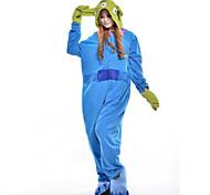 Kigurumi Pajamas Monster Leotard/Onesie Halloween Animal Sleepwear Blue Patchwork Polar Fleece Kigurumi UnisexHalloween / Christmas /