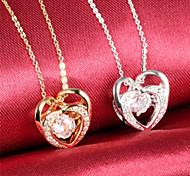 Heart Diamond Ms 18K Gold Titanium Steel NecklacesImitation Diamond Birthstone