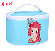 Makeup Storage Cosmetic Bag / Makeup Storage PU Cartoon Quadrate 20.5x15x13cm Blue / Pink / Rose