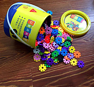 3.3cm Snow Flakes Bucket Set Building Blocks Building Kit DIY Toys(300pcs)