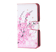Plum Blossom Magnetic PU Leather wallet Flip Stand Case cover for Wiko sunset2